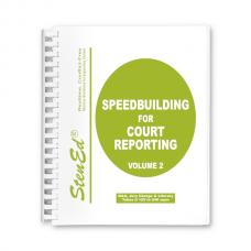 Speedbuilding for Court Reporting - Volume 2 (Book)